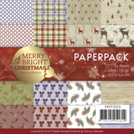 PMPP10019 Paperpad - Merry and Bright Christmas - Marieke Design