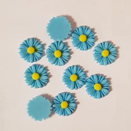 Acryl Flowers Margriet - 10 stuks - Aqua Blauw