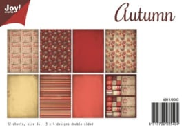 6011/0502 Paperbloc A4 a 12 vel - Autumn - Joy Crafts