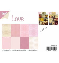 6011/0511 Paperbloc A4 a 12 vel - Love - Joy Crafts