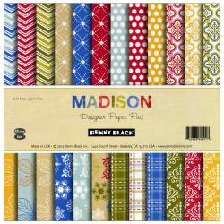 Paperpad 15x15cm - Madison - Penny Black