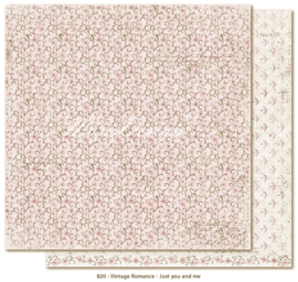 820 Scrappapier dubbelzijdig - Vintage Romance - Maja Design