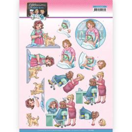 CD11665 3D Knipvel A4 - Bubbly Girls - Yvonne Creations