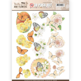 SB10218 Stansvel A4 - Classic Butterflies and Flowers - Jenine's Art