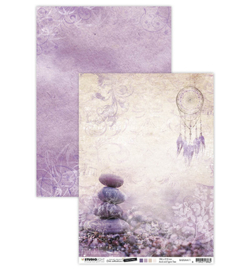 BASISJMA11 Achtergrondpapier A4 dubbelzijdig - Jenine's Mindful Art Time to Relax - Studio Light