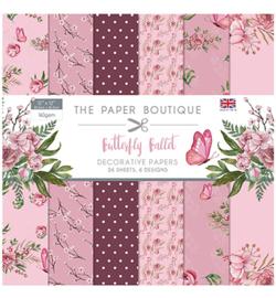 PB1167 Paperpad 30.5 x 30.5 cm Butterfly Ballet - The Paper Boutique PAKKETPOST!