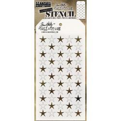 """THS111 Shifter Stars Layered Stencil 4.125""""X8.5"""" - Tim Holtz"""
