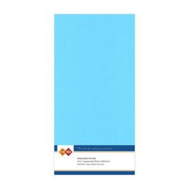 29 Hemelsblauw - Linnen Kaarten 4 kant 13.5x27cm - 10 stuks - 200 grams - Card Deco