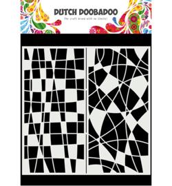 470.715.824 - Mask Art Slimline Mosiaic Line - Dutch Doobadoo