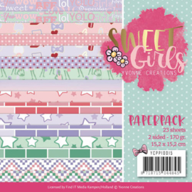 YCPP10015 Paperpad - Sweet Girls - Yvonne Creations