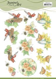 CD11534 3D vel A4 - Vlinders - Jeanine's Art