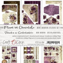 Junk Journal Set Plum In Chocolate, 15,5x30,5cm - Craft O Clock