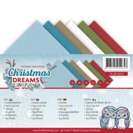 YC-4K-10015 Karton 13,5 x 27cm - Christmas Dreams - Yvonne Creations