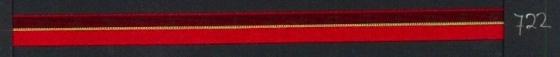 9mm lint Organza/Satijn - Rood - 1 meter