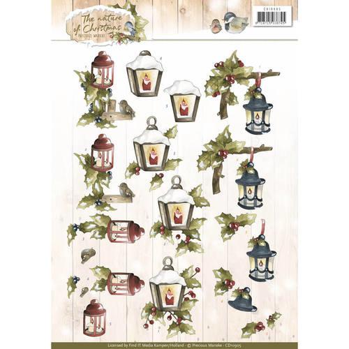 CD10905 Knipvel A4 - The Nature Christmas - Marieke Design