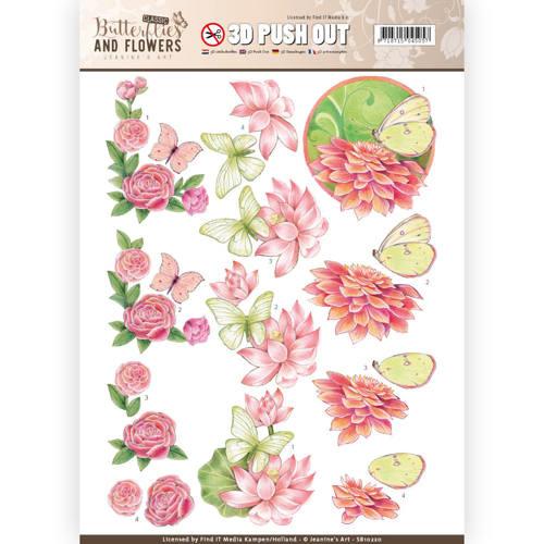 SB10220 Stansvel A4 - Classic Butterflies and Flowers - Jenine's Art