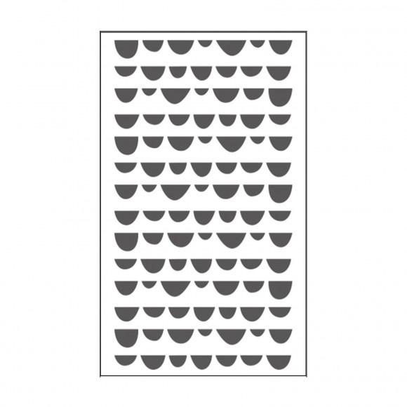 """100604-116 Dots Embossingstencil 3x5""""- Vaessen"""
