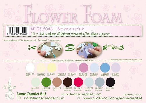 25.5046 Flower foam sheets A4 0.8mm. Blossom pink
