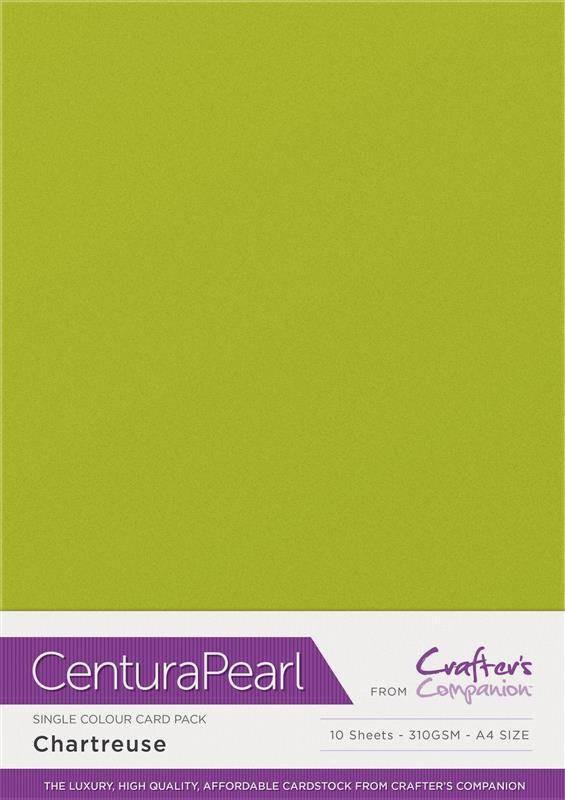 Chartreuse - Glanskarton A4 310 grams - 10 vel - Centura Pearl