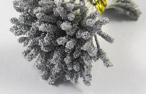 'Gesuikerde' Meeldraden 144 stuks - Zilvergrijs