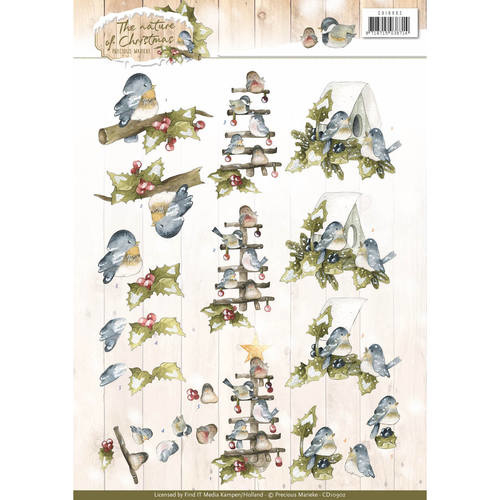 CD10902 Knipvel A4 - The Nature Christmas - Marieke Design