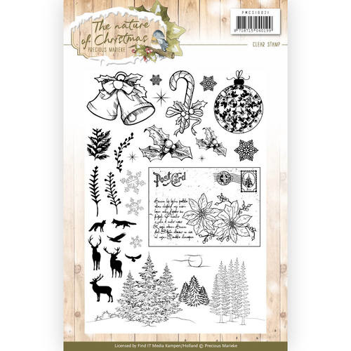 PMCS10021 Clearstempel  - The Nature Christmas - Marieke Design