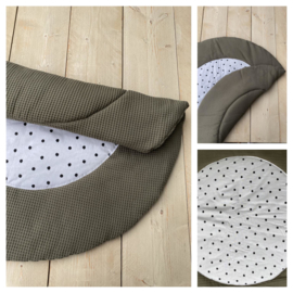Boxkleed  Rond - Army / Dots