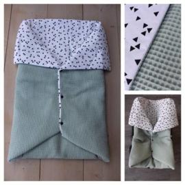 Multi deken - Oud groen / Triangel