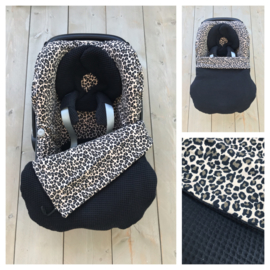 Maxi Cosi set - Leopard / Zwart - Pebble