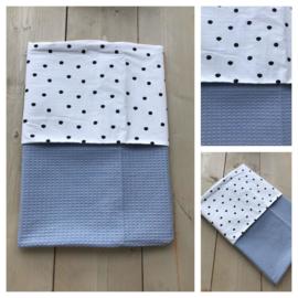 Dekentje - Oud blauw/ Dots