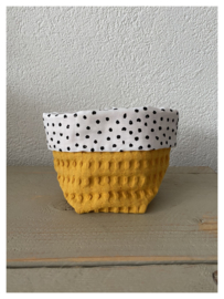 Commode mandje - Soft Oker / Small Dots