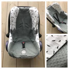Hoes Cabrio Fix - Sapphire Groen / Veertjes