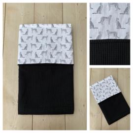 Dekentje - Zwart / Luipaard