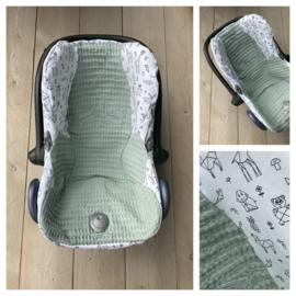 Hoes Cabrio Fix - Poeder Groen / Origami Animals