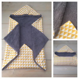 Wikkeldeken Donker grijs / Geel Triangel