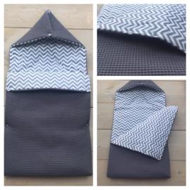 Voetenzak Zigzag / Donker grijs
