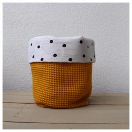Commode mandje - Oker Geel / Dots