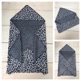 Wikkeldeken - Leopard Grey