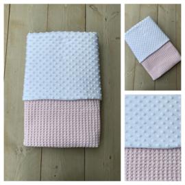 Dekentje - Soft Pink / Wit