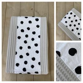 Aankleedkussen hoes - Soft Poeder Grijs / Big Dots