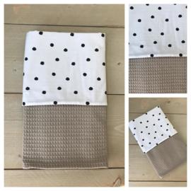 Dekentje - Taupe / Dots