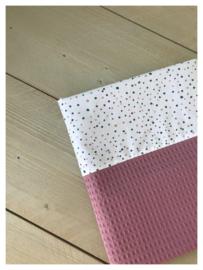 Lakentje - Oud roze / Dotties