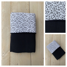 Dekentje - Zwart / Leopard