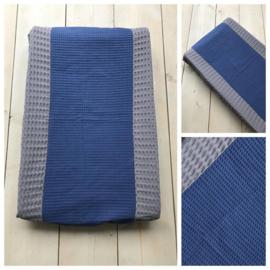 Aankleedkussen hoes - Donker Grijs / Jeans Blauw