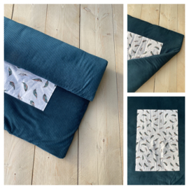 Boxkleed - Corduroy Rib Sapphire / Veren
