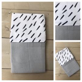 Dekentje - Licht Grijs / Diagonal Stripes