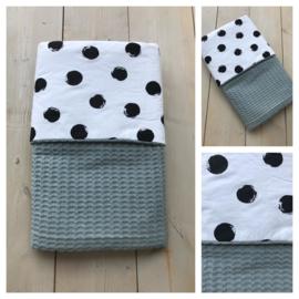 Dekentje - Sapphire Groen / Big Dots