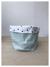 Commode mandje - Soft Poeder Groen / Dots