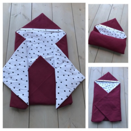 Wikkeldeken Bordeaux / Dots