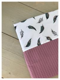 Lakentje - Oud roze / Veren
